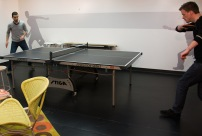 Gotta stop and play some ping pong!