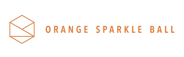 Orange Sparkle Ball logo