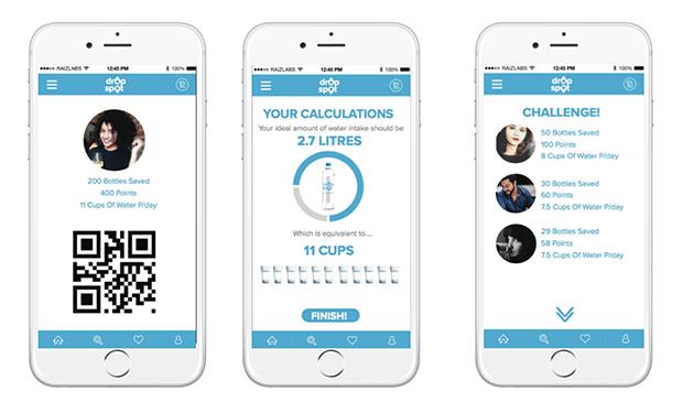 drop spot prototype app screens