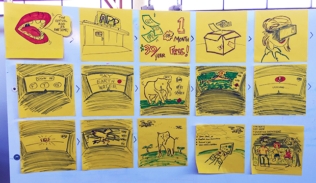 vr zoo project storyboard