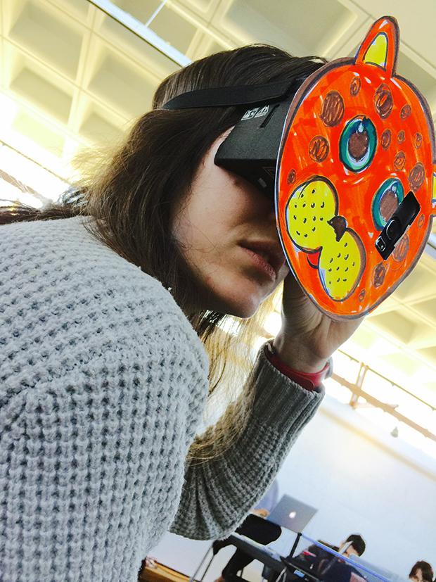 vr zoo mask prototype